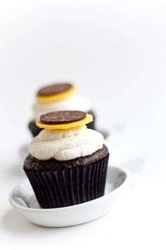 Desserts for Breakfast: Chocolate + Lemon Mascarpone Cupcakes, or When People Give You Lemons...