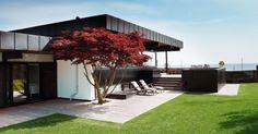 Terrasse på samme nivå som plen