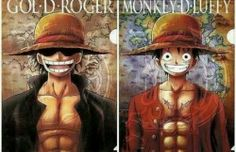 Gol D Roger and Luffy