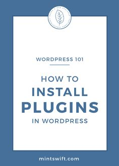 Learn how to install plugins in WordPress. Learn the ways to add the free plugins and upload the premium WordPress plugins to your website Business Checks, Business Tips, Online Business, Blog Website Design, Wordpress Website Design, Make Money Now, Make Money Online, How To Get Followers, Blog Categories