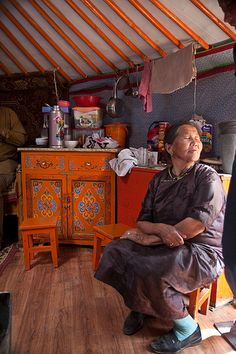 Home in the Ger . Mongolia