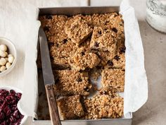 Get Oat Bars with Cranberries and Macadamia Nuts Recipe from Cooking Channel