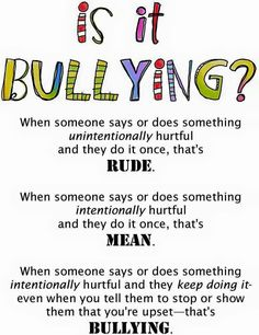Is it bullying? Or rude? Or mean?