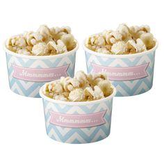 Die Eisbecher im Chevron Design passen perfekt zu einer tollen Sommerparty oder können zur Aufbewahrung von Süßigkeiten für eine Candy Bar verwendet werden.