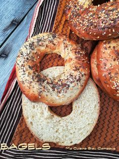 Bagels Maison, Recette de base Bagels, Brunch, Sandwiches, Food And Drink, Pains, Recipes, Breads, Eating Healthy, Pastries
