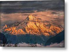 This is a part of the vista from where I live. The Bristen (3'073 m) is a mountain in the Glarus Alps, overlooking the valley of the Reuss and located to the south of Amsteg in the canton of Uri, Switzerland. - Photo Duvet Cover by Hanny Heim, Snowbird Photography #photography #switzerland #schweiz #mountains #alps #bristen