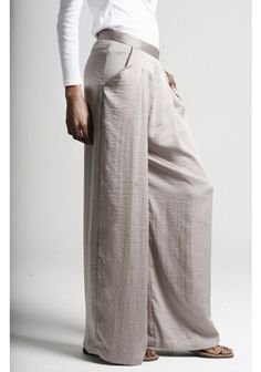 Pleat Front Wide Leg Trousers  by Maysaa #pants #trousers
