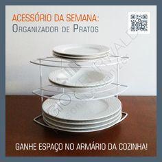 ACESSÓRIO DA SEMANA: Organizador de Pratos - Ganhe espaço no armário da cozinha!