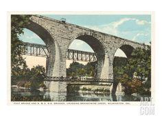 Bridge over Brandywine, Wilmington, Delaware Giclee Print at Art.com
