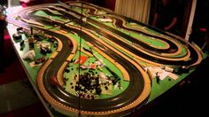 5 player Scalextric GT3 race slot car #2 Last of the night.