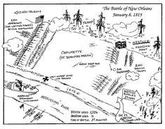 Battle of New Orleans diagram