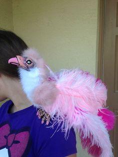 Fantasy Art Woodbaby Pink Phoenix Bird Renaissance Shoulder Puppet