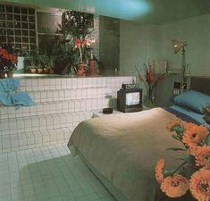 "jpegfantasy: "" Designed by Alan Buchsbaum 🎨 Bath Design, Philip Mazzurco, 1986 📚 Salvaged & scanned by 🖨️ "" 80s Interior Design, Interior Exterior, Home Interior, Interior Architecture, Interior Decorating, Diy Decorating, Casa Retro, Retro Home, Decor Pad"