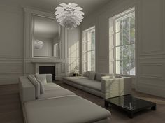 perfetto   London by Zyomko. Simple, minimalist elegance of this drawing room + living room