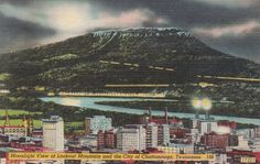 Moonlight View of Lookout Mountain and City of Chattanooga, Tennessee