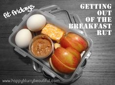 breakfast box - remove the dairy and switch for almond butter