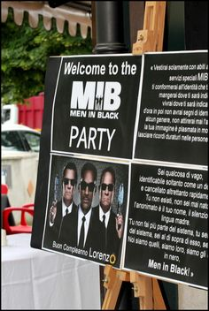 Men in Black Party | CatchMyParty.com