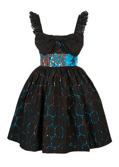 The Gemini Collection: Carrie Dress Black. Stylish and wearable clothing inspired by the rich and diverse culture of Ghana. African Print Fashion, Africa Fashion, African Fashion Dresses, African Attire, African Wear, African Style, Ankara Styles For Kids, African Dresses For Kids, African Clothes