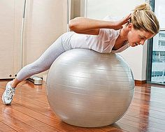 Back Exercise on an Exercise Ball