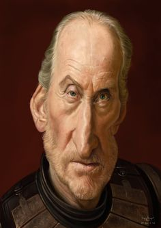 Caricatura del actor y director Británico Charles Dance, interpretando a Lord Tywin Lannister en la ...