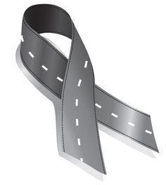Road Ribbon for Road Safety The Last Straw, Heeled Mules, Safety, Ribbon, Heels, November, Security Guard, Tape, Heel