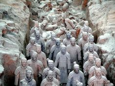 The Terracotta Warriors in Shaanxi – China    When China's first emperor died, an army of clay soldiers was placed to guard his tomb. Thousand of years later, the Terracotta Warriors live on, and have since been among China's most famous tourist attractions.