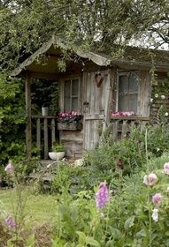 Rustic garden area