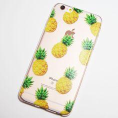 Colored Pineapple iPhone 6 Plus / iPhone 6S Plus Transparent Soft Case
