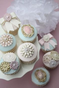 These Cupcakes Inspire Me To Make Something Similar For My Friend's Marie Antoinette Bridal Tea Party.