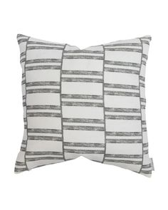 Handwoven Chiangmai Tribal Navy Blue and Oatmeal Striped Pillow Cover  20 x 20  No 079