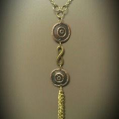 Collier sautoir bronze bohème