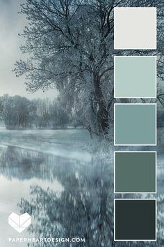 Color Schemes Colour Palettes, Colour Pallette, Winter Color Palettes, Green Color Schemes, Color Palette Green, Home Color Schemes, Color Schemes Design, Monochromatic Color Scheme, Interior Color Schemes