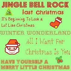 Christmas Music Playlist with play buttons for each song so you can listen right on the page! This would be great to use for a holiday party.