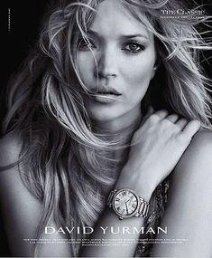 david yurman jewelry, watches, fall 2010, ad campaign, peter lindberg, kate moss