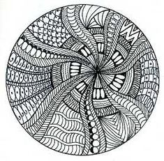 Zentangle circle by dots 'n' doodles, via Flickr