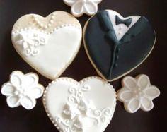 Items similar to bride sugar cookies, party cookies, wedding ...