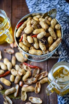 October Tidbits: Taste of Home + Malaysian Fruit Salad (Rojak Buah) — Vermilion Roots Shelled Peanuts, Boiled Peanuts, Raw Peanuts, Best Chinese Food, Authentic Chinese Recipes, Boil Peanuts Recipe, Tasty, Yummy Food, Delicious Recipes