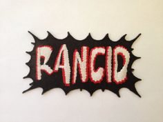 RANCID Iron On PatchPunk  Rock Band Embroidered by Rocknsportstore, $6.99