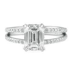 LEPOZZI 1.75 CT EMERALD CUT DIAMOND PLATINUM ENGAGEMENT RING #oneofakind#nyc#engagment