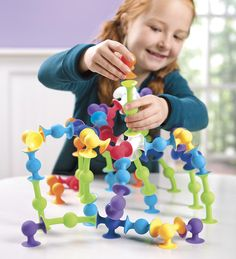 Squigz Kids' Construction Deluxe Set—as much fun to take apart as it is to put together.