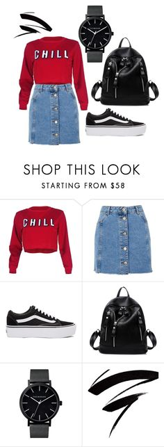 """""""Untitled #68"""" by bettina-agoston on Polyvore featuring Topshop and Vans"""