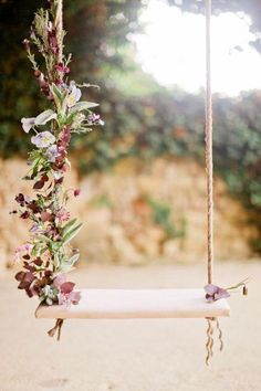 flowers to decorate a swing