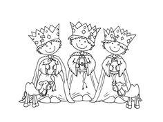Tři králové omalovánky | i-creative.cz - Inspirace, návody a nápady pro rodiče, učitele a pro všechny, kteří rádi tvoří.