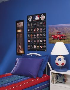 Help get your son's posters up on the wall with Command™ Poster Strips.