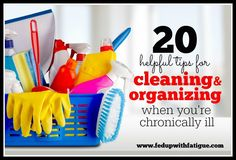 Cleaning is hard work - especially if you have fibromyalgia or other chronic illness. If you're struggling to keep your home clean, these tips may help!