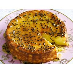 Passionfruit and lemon syrup cake recipe - By Australian Women's Weekly, Smothered in fresh passionfruit and dripping with syrup, this passionfruit and lemon drizzle cake is rich, sweet and tart. Serve warm with double cream on the side.
