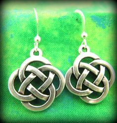 Sterling Silver Celtic Irish Knot Earrings by TheCelticBead, $15.00