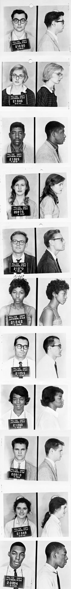 These guys are, 'Freedom Riders'. this doc.is about about the men and women who refused to ride segregated and traveled together on trains and buses during the Jim Crow era South.