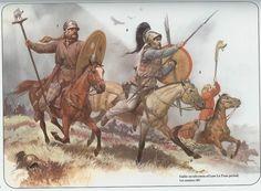 Angus McBride - Jinetes celtas de la cultura de La Téne, siglo I AC