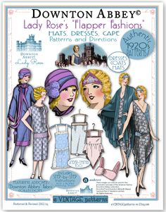 """Downton Abbey Flapper Fashions - several other patterns available with """"Downton Abbey"""" styling"""